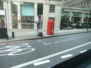 Park Lane Olympic Lane and signs