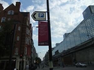 Buckingham Palace Road sign