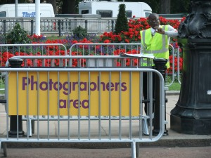 Buckingham Palace Photographers' area