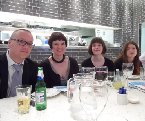 The Volante family at Carluccio's