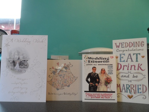 Cards received before the wedding and opened before we left