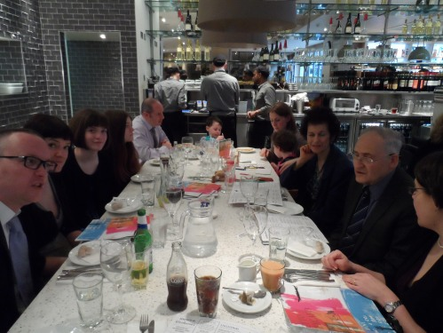 The wedding party at Carluccio's