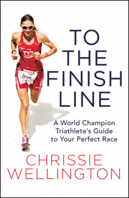 Chrissie wellington to the finish line