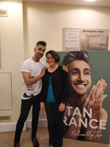 Tan France with Liz at book signing
