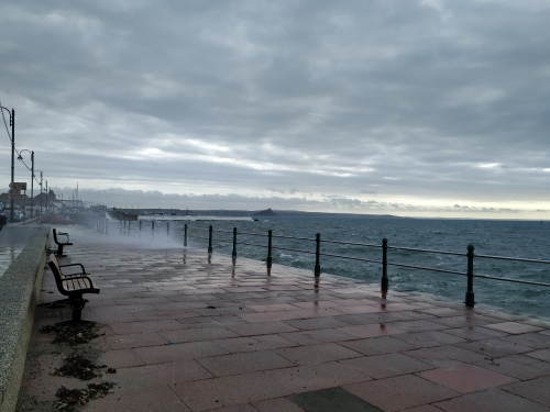 Wild seas on Penzance prom