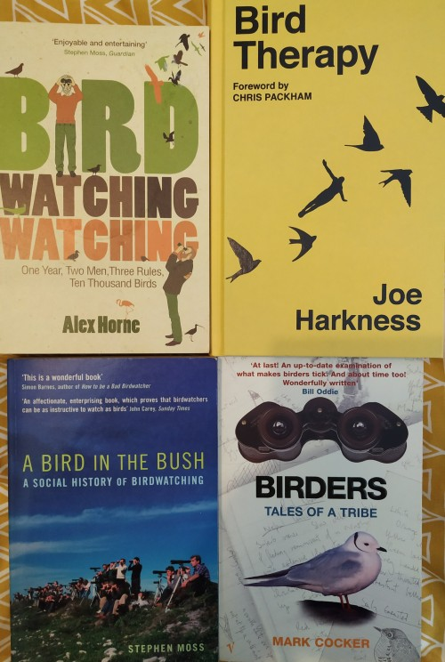 Four books on birdwatching