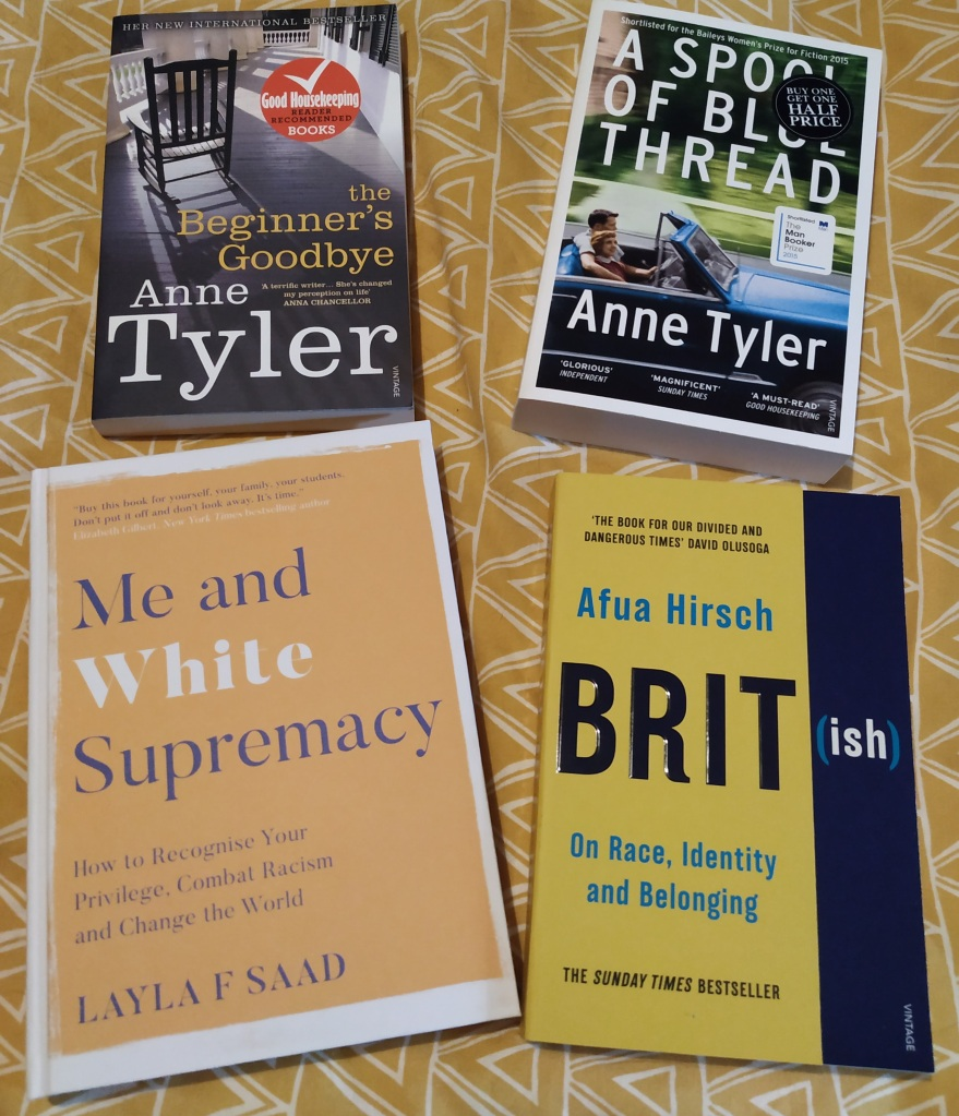 Four print books, descriptions in text.